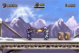 In game image of CT Special Forces on the Nintendo Game Boy Advance.