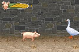 In game image of Charlotte's Web on the Nintendo Game Boy Advance.