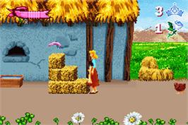 In game image of Cinderella: Magical Dreams on the Nintendo Game Boy Advance.