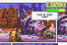 In game image of Comix Zone on the Nintendo Game Boy Advance.