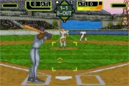 In game image of Crushed Baseball on the Nintendo Game Boy Advance.