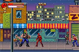 In game image of Daredevil on the Nintendo Game Boy Advance.