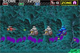 In game image of Darius R on the Nintendo Game Boy Advance.