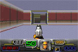 In game image of Dark Arena on the Nintendo Game Boy Advance.