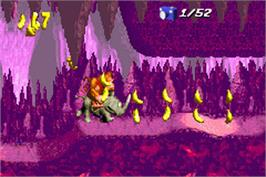 In game image of Donkey Kong Country on the Nintendo Game Boy Advance.