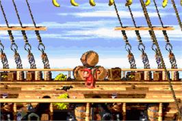 In game image of Donkey Kong Country 2: Diddy's Kong Quest on the Nintendo Game Boy Advance.