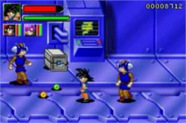 In game image of Dragonball GT: Transformation on the Nintendo Game Boy Advance.