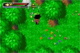 In game image of Dragonball Z: Buu's Fury on the Nintendo Game Boy Advance.