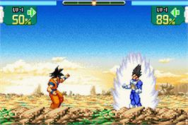 In game image of Dragonball Z: Supersonic Warriors on the Nintendo Game Boy Advance.