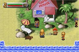 In game image of Dragonball Z: The Legacy of Goku on the Nintendo Game Boy Advance.