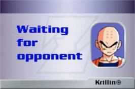 In game image of Dragonball Z Collectible Card Game on the Nintendo Game Boy Advance.