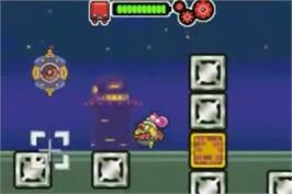 In game image of Drill Dozer on the Nintendo Game Boy Advance.