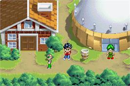 In game image of Duel Masters Sempai Legends on the Nintendo Game Boy Advance.