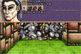 In game image of Dungeons & Dragons: Eye of the Beholder on the Nintendo Game Boy Advance.