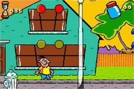 In game image of Ed, Edd n Eddy: Jawbreakers on the Nintendo Game Boy Advance.