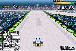 In game image of F-Zero: GP Legend on the Nintendo Game Boy Advance.