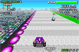 In game image of F-Zero: Maximum Velocity on the Nintendo Game Boy Advance.