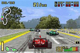 In game image of F1 2002 on the Nintendo Game Boy Advance.
