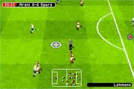 In game image of FIFA 2005 on the Nintendo Game Boy Advance.