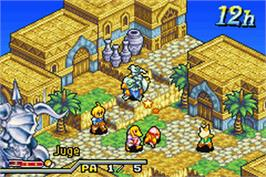 In game image of Final Fantasy Tactics Advance on the Nintendo Game Boy Advance.