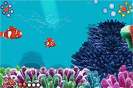 In game image of Finding Nemo on the Nintendo Game Boy Advance.