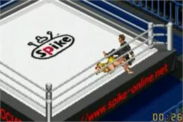 In game image of Fire Pro Wrestling on the Nintendo Game Boy Advance.