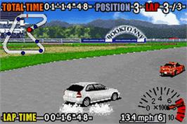In game image of GT Advance 3: Pro Concept Racing on the Nintendo Game Boy Advance.