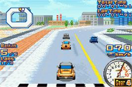 In game image of Gadget Racers on the Nintendo Game Boy Advance.
