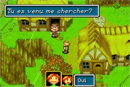In game image of Golden Sun on the Nintendo Game Boy Advance.