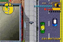 In game image of Grand Theft Auto Advance on the Nintendo Game Boy Advance.