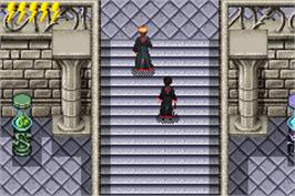 In game image of Harry Potter and the Sorcerer's Stone on the Nintendo Game Boy Advance.
