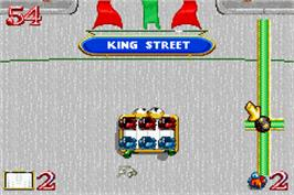In game image of Hot Potato on the Nintendo Game Boy Advance.