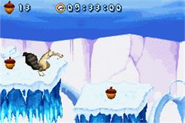 In game image of Ice Age 2: The Meltdown on the Nintendo Game Boy Advance.