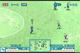 In game image of International Superstar Soccer Advance on the Nintendo Game Boy Advance.