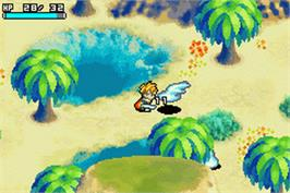 In game image of Jumping Doduo on the Nintendo Game Boy Advance.