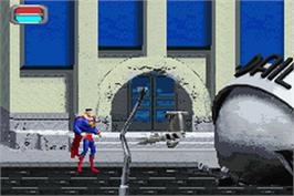 In game image of Justice League: Injustice for All on the Nintendo Game Boy Advance.