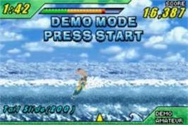 In game image of Kelly Slater's Pro Surfer on the Nintendo Game Boy Advance.