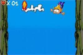 In game image of Kid Paddle on the Nintendo Game Boy Advance.
