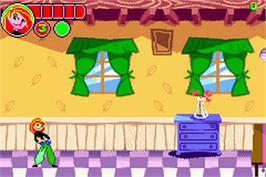 In game image of Kim Possible: Revenge of Monkey Fist on the Nintendo Game Boy Advance.
