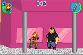 In game image of Kim Possible 2: Drakken's Demise on the Nintendo Game Boy Advance.