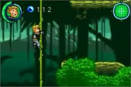 In game image of Kim Possible 3: Team Possible on the Nintendo Game Boy Advance.