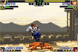 In game image of King of Fighters EX: Neo Blood on the Nintendo Game Boy Advance.