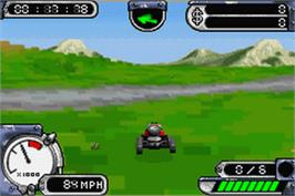 In game image of Kingler's Day on the Nintendo Game Boy Advance.