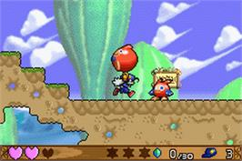 In game image of Klonoa: Empire of Dreams on the Nintendo Game Boy Advance.