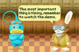 In game image of Kuru Kuru Kururin on the Nintendo Game Boy Advance.