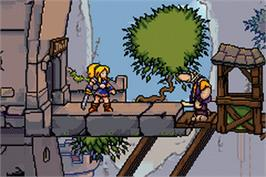 In game image of Lady Sia on the Nintendo Game Boy Advance.