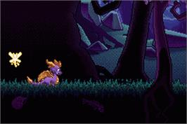 In game image of Legend of Spyro: The Eternal Night on the Nintendo Game Boy Advance.