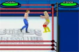In game image of Legends of Wrestling 2 on the Nintendo Game Boy Advance.