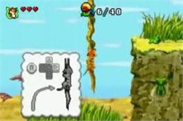 In game image of Lion King 1 ½ on the Nintendo Game Boy Advance.