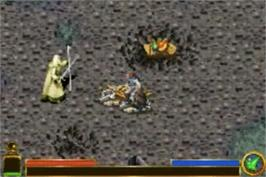 In game image of Lord of the Rings: The Return of the King on the Nintendo Game Boy Advance.